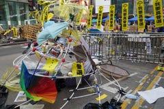 I dimostranti di democrazia di Hong Kong stanno combattendo fuori il loro dirigente principale Fotografia Stock Libera da Diritti