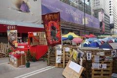 I dimostranti di democrazia di Hong Kong stanno combattendo fuori il loro dirigente principale Fotografie Stock