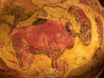 I disegni dal soffitto di Altamira franano Santillana Del Mar, Cantabria, Spagna immagine stock