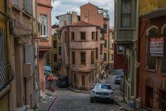 I distretti meravigliosi di Fener e di Balat, Costantinopoli fotografia stock