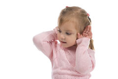 I do not want to hear anything! Stock Photos