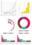 I documenti e l'affare infographic del grafico analizzano Fotografia Stock Libera da Diritti