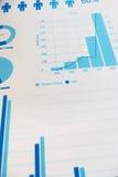 I documenti e l'affare infographic del grafico analizzano Immagine Stock