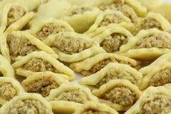 i dolci cechi speciali di natale hanno nominato le conchiglie, fatte delle noci Fotografia Stock Libera da Diritti