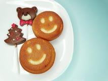 I dolci ed il cioccolato creativi dell'alimento sopportano per il dessert del bambino Fotografie Stock Libere da Diritti