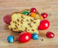I dolci hanno chiamato Pasca fatto con formaggio e l'uva passa, passo tradizionale Fotografie Stock Libere da Diritti