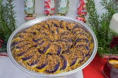 I dolci hanno fatto dall'igname porpora un piatto filippino Immagine Stock