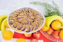 I dolci hanno fatto dall'igname porpora un piatto filippino Fotografia Stock Libera da Diritti