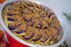 I dolci hanno fatto dall'igname porpora un piatto filippino Fotografie Stock Libere da Diritti
