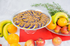 I dolci hanno fatto dall'igname porpora un piatto filippino Immagini Stock Libere da Diritti