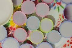 I dolci variopinti della Tailandia hanno messo sul vassoio Immagine Stock