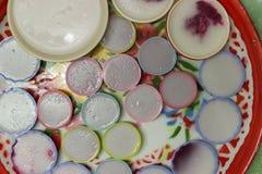 I dolci variopinti della Tailandia hanno messo sul vassoio Fotografia Stock