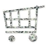 I dollari accatastano come fondo Fotografia Stock
