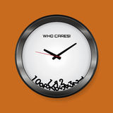 I don`t care about time concept Royalty Free Stock Photo
