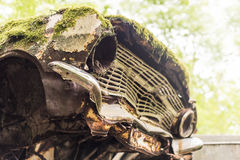 I don't do Mondays. An old Opel at the legendary car cemetery in Bastnas, Sweden Stock Images