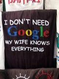 I Don& x27; t vergt Google, kent mijn Vrouw alles Royalty-vrije Stock Afbeelding