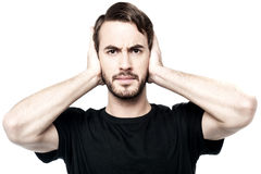 I don't want to hear anything ! Royalty Free Stock Images