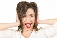 I don't want to hear! Stock Image