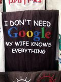I Don& x27;t Need Google,  my Wife Knows Everything Royalty Free Stock Image