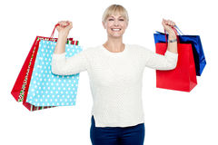 I am done with my Christmas shopping! Royalty Free Stock Photo
