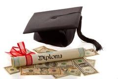 I dottorato ed il dollaro. Fotografia Stock