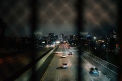 I-5 and the downtown skyline in San Diego, California royalty free stock photography