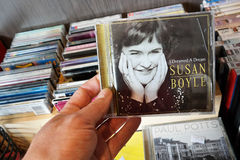 I Dreamed a Dream. THE NETHERLANDS - JULY 2015: Compact disc of the Scottish singer Susan Boyle in a second hand store. Susan Boyle came to international Stock Photos