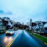 I drove though philipsburg with my tractor trailer. Tree sky winter stock photos