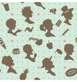 I eat and enjoy pattern Stock Image