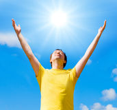 I embrace the sun Royalty Free Stock Images