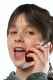 I en een mobiele telefoon stock afbeelding