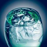 Is i en glass closeup Fotografering för Bildbyråer