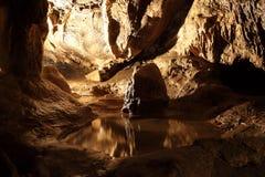 I en grotta Royaltyfri Fotografi
