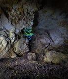 I en grotta Arkivbild