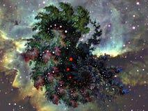 I en långväga fractalgalax stock illustrationer