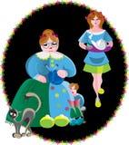 I en mijn familie stock illustratie