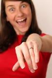 I am engaged! Stock Images