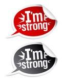 I etiquetas engomadas fuertes del `m. Imagenes de archivo