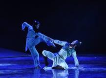 I ett ögonblick av desperation - dansdramat legenden av kondorhjältarna royaltyfri foto