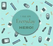 I am an everyday Hero vector illustration