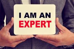 I am an expert stock image