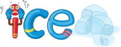 I für Eis lizenzfreie abbildung