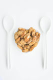 I fagioli, mandorle il gusto delizioso e mantengono un cuore sano fotografia stock