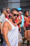 I fan canadesi arrivano al BC Place Stadium Fotografia Stock Libera da Diritti