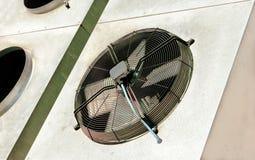 Unità esterna del condizionatore d'aria per fondo industriale Immagini Stock
