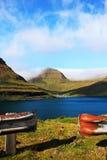 By i Faroeen Island Royaltyfri Fotografi