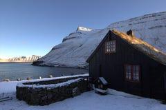 By i Faroeen Island Royaltyfria Bilder