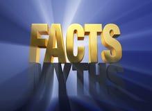 I fatti sgominano i miti Fotografie Stock