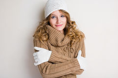 I feel cold... Royalty Free Stock Images