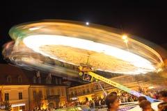 I ferris di festival spinge dentro Sibiu a CibinFest Immagine Stock